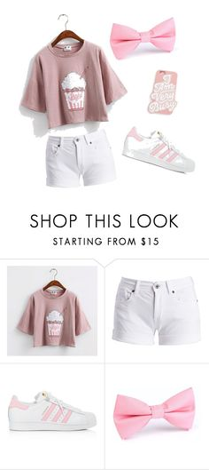 """How to Wear Pink"" by morgan-ash-ley ❤ liked on Polyvore featuring Barbour International, adidas and ban.do"