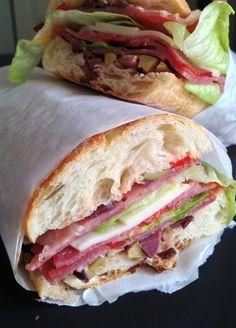 Italian Pressed Sandwiches..