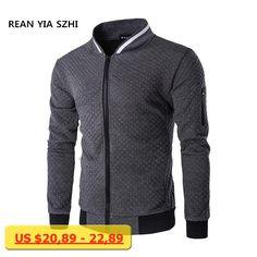 Hot sales New 2017 Autumn Winter Mens Hoodies Sweatshirts Diamond-shaped Collision Hit Zipper collar Collar Sweatshirt Jacket