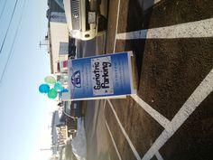 Sign in parking lot esp. for Dr. Everett's birthday #Sheree Everett #Everett Veterinary #Klamath Falls