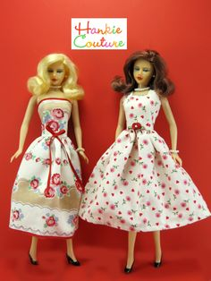 Hankie couture doll dresses