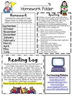 Editable Homework folders and newsletter. Easy to keep organized and communicate with parents!