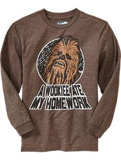 Boys Star Wars™ Chewbacca Tees | Old Navy  @Jen Stoops