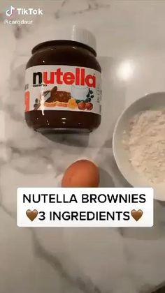 Fun Baking Recipes, Mug Recipes, Nutella Recipes, Easy Cake Recipes, Sweet Recipes, Baking Ideas, Nutella Breakfast, Homemade Breakfast, Healthy Breakfast Recipes