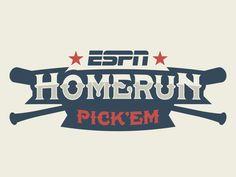 ESPN Homerun Pick Em Logo by Matt Walker