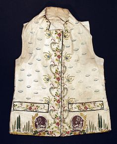 Waistcoat 1774, French, Made of silk