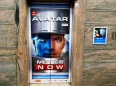 The 3D elevator door graphic was designed and installed by us for the TV launch of the movie 'Avatar' on the channel 'Movies Now' in India.