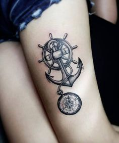 nautical-thigh-tattoo