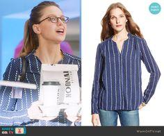 Tommy Hilfiger Diamond Print Tunic worn by Melissa Benoist on Supergirl Fashion Tv, Fashion Outfits, Supergirl Outfit, Kara Danvers Supergirl, Work Casual, Casual Wear, Cute Outfits, Melissa Benoist, Arrow