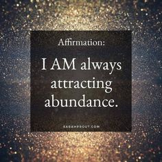 Abundance flows to me easily and naturally now thank you universe ♥️