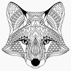 Bring your creativity to life with one of these free 101 printable adult coloring pages. Tons of beautiful options to spend hours getting lost in the world of coloring! Fox Coloring Page, Animal Coloring Pages, Printable Coloring Pages, Coloring Pages For Kids, Coloring Books, Unique Coloring Pages, Mandalas Painting, Mandalas Drawing, Mandala Coloring Pages