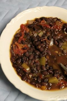 Absolute Favorite- no meat!! Add avocado and blend it in.  Black Bean Soup with Knorr Chicken Concentrate - Southern Hospitality