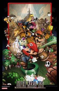 I got the idea to do this poster only recently. I have always been a big Fan of Super Mario RPG and have wanted to do a poster of it for a long wh. Super Mario RPG Legend of the Seven Stars Poster Super Mario Rpg, Super Mario Kunst, Rpg Maker, Knight Rpg, Cthulhu, Ninja Rpg, Geeky Wallpaper, Rpg Horror, Mario And Luigi