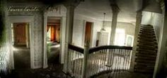 abandoned plantation home foyer