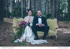 Romantic and sublime | This wedding oozes bold creativity | See the full wedding here: http://www.theprettyblog.com/wedding/organic-opulence-toni-and-marks-wedding/ | Photographer: Shanna Jones | Florist: Fleur le Cordeur | Dress: Eve's Bridal Wear | Groom Suit: Hugo Boss