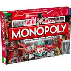 Buy Monopoly Liverpool F.C. Edition Board Game at Argos.co.uk - Your Online Shop for Games and board games. Liverpool Kop, Liverpool Football Club, Monopoly Board, Presents For Women, Classic Board Games, Card Games, Argos, Stuff To Buy, Puzzles