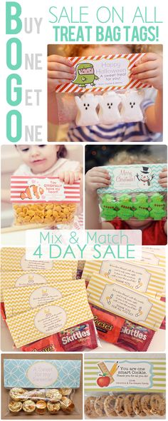 The Busy Budgeting Mama: 4 Day Sale: BOGO Printable Treat Bag Tags (Halloween, Christmas, Teacher Appreciation, Easter, St. Patrick's Day, Valentine's Day, New Baby, Wedding, Birthday Favors and more!