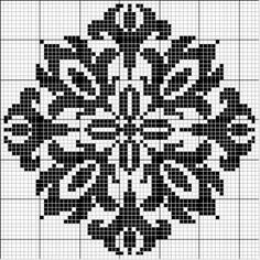 Square 46 | Free chart for cross-stitch, filet crochet | Chart for pattern - Gráfico