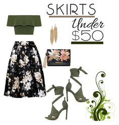 """""""Untitled #43"""" by amanihalaly on Polyvore featuring WearAll, Lizzie Fortunato, Capwell + Co, under50 and skirtunder50"""