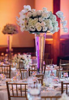 Photographer: Dear Wesleyann Photography; Wedding reception centerpiece idea