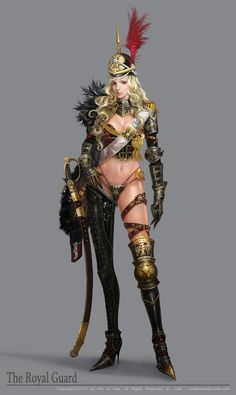 character The Royal Guard Character Design Cartoon, Character Design References, Fantasy Character Design, Character Design Inspiration, Character Concept, Character Art, Concept Art, Fantasy Female Warrior, Female Armor