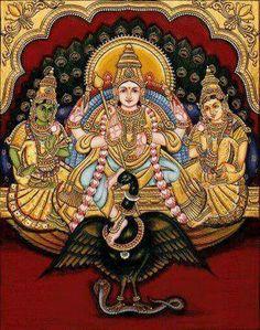 Muruga Mysore Painting, Kerala Mural Painting, Tanjore Painting, Lord Murugan Wallpapers, Indian Folk Art, Hindu Deities, God Pictures, Hindu Art, Traditional Paintings