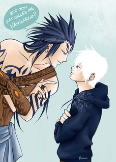 If bunnymund did look like this hmm . . . xD Bunnymund and Jack Frost by *Hanacchi7 on deviantART