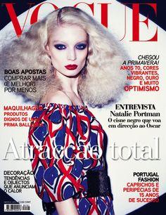 Vogue Portugal March Melissa Tammerijn by Richard Burbridge Vogue Magazine Covers, Fashion Magazine Cover, Vogue Covers, Natalie Portman, Fashion Colours, Colorful Fashion, Blonde Hair Red Lips, Richard Burbridge, Vogue Portugal