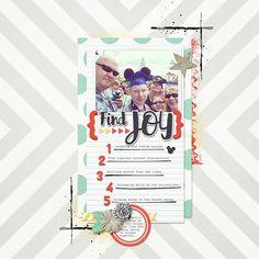 Find Joy digital scrapbook page layout by Annette Pixley (pixleyyy) using Find Joy by River~Rose.