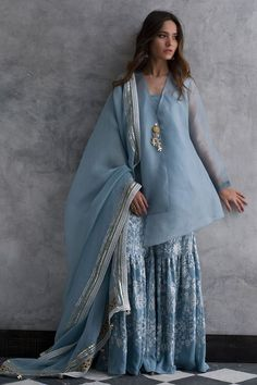Shop a wide selection of women's suits and separates at Nida Azwer. Pakistan Fashion, India Fashion, Women's Fashion, Indian Attire, Indian Ethnic Wear, Indian Dresses, Indian Outfits, Salwar Kameez, Churidar