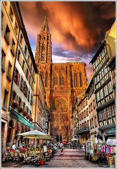 I remember sitting in that little cafe eating french crepes while drinking white wine. Until we meet again in Alsace...Strasbourg, France.