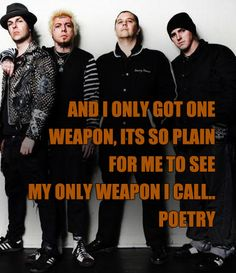 ~And I only got one weapon, its so plain for me to seeMy only weapon I call. poetry~ Arrested In Shanghai - Rancid Punk Rock Lyrics, Tim Armstrong, Good Music Quotes, Pearl Jam, Music Is Life, Get One, Good People, Shanghai, Weapon