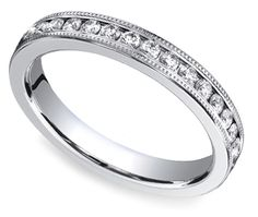 Love the look of classic, understated elegance? The Channel Diamond Eternity Ring in White Gold by http://brilliance.com is the perfect choice!