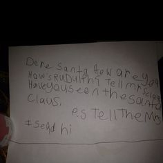 My little brothers letter to santa