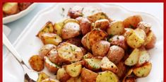 Garlic Roasted Potatoes recipe from Ina Garten via Food Network side dish for dinner last night.I squeezed fresh lemon juice over the potatoes before serving. Garlic Roasted Potatoes, Roasted Potato Recipes, Cheese Potatoes, Fingerling Potatoes, Parsley Potatoes, Mashed Potatoes, Garlic Parmesan, Baby Potato Recipes, Vegetarian Recipes