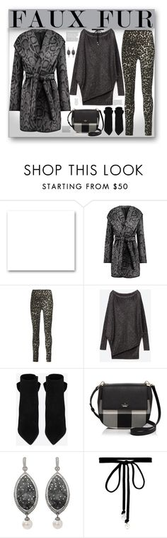 """""""Leopard and Faux Fur"""" by fassionista ❤ liked on Polyvore featuring St. John, Diane Von Furstenberg, Norma Kamali, Yves Saint Laurent, Kate Spade, Inbar and Joomi Lim"""