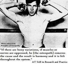 AT Still quote about muscles and harmony