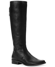 Nine West Counter Zip-Back Riding Boots - Boots - Shoes - Macy's