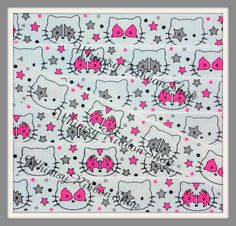 NEW 3 Yards 7/8 Rock n Roll Pink Grey Kiss by WhimsyRibbonShop, $3.99