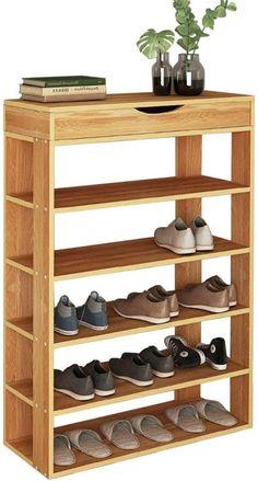 Diy Furniture Plans, Bed Furniture, Pallet Furniture, Furniture Projects, Furniture Design, Wood Shoe Rack, Natural Wood Furniture, Diy Wooden Projects, Home Decor Shelves