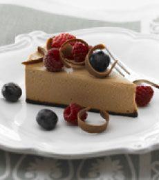 Milk Chocolate Cheesecake with Fresh Berries