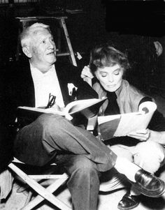 Spencer Tracy and Katharine Hepburn going over their lines for Guess Who's Coming to Dinner (1967)