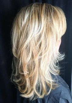 60 Lovely Long Shag Haircuts for Effortless Stylish Looks Blonde Layered Hairstyle With Flipped Ends Long Shag Hairstyles, Long Shag Haircut, Long Layered Haircuts, Haircuts For Long Hair, Long Hair Cuts, Cool Haircuts, Trendy Hairstyles, Hairstyles 2016, Black Hairstyles