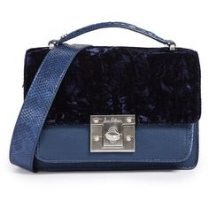 Sam Edelman Gessica Shoulder Bag (229 AUD) ❤ liked on Polyvore featuring bags, handbags, shoulder bags, poseidon blue, pocket purse, sam edelman, flap handbags, blue purse and shoulder hand bags