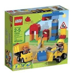 Amazon.com : LEGO DUPLO My First Construction Site 10518 : Toy Interlocking Building Sets : Toys & Games