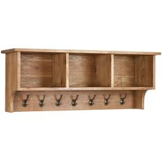 AlpenHome Millais Petite Wall Shelf with Coat Rack