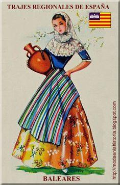 Regional, Spanish Fashion, Balearic Islands, How To Speak Spanish, Doll Patterns, Fashion History, Traditional Dresses, Ibiza, Style Inspiration