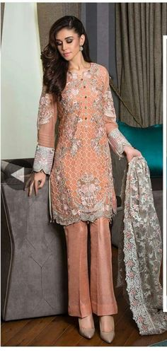 Pakistani embroiderd shirt with trouser