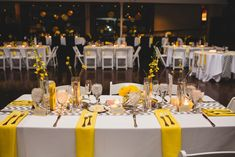 grey and yellow wedding table samples | wedding flowers, wedding florist for Columbus, Ohio and Central Ohio ...