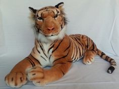 Large Stuffed Tiger Plush Animal Jungle Cat Big 28in Best Made Toys #BestMadeToys